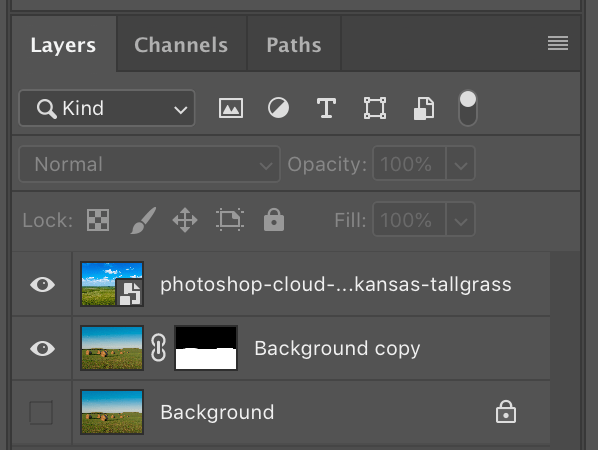 Image: When you place a new image into your Photoshop document it will appear at the top of the list...