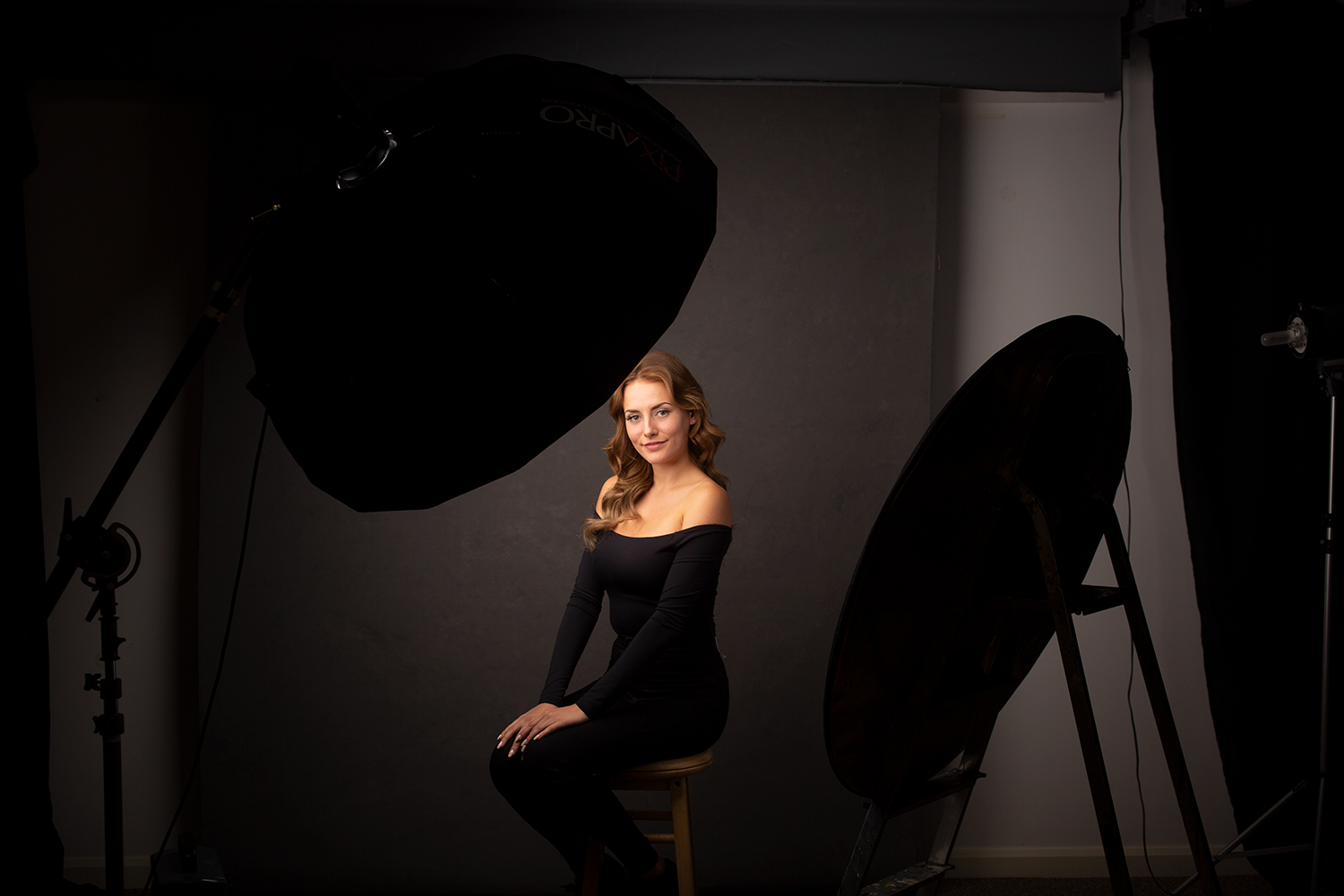 Image: For soft light in the studio, big modifiers in close will do the job just great.