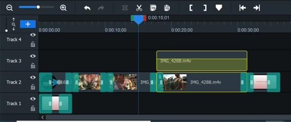 Image: You can either edit the audio level of clips or split the audio, which is what I did here. As...