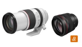 Canon Reveals the RF 70-200mm f/2.8L and the RF 85mm f/1.2L DS Lenses