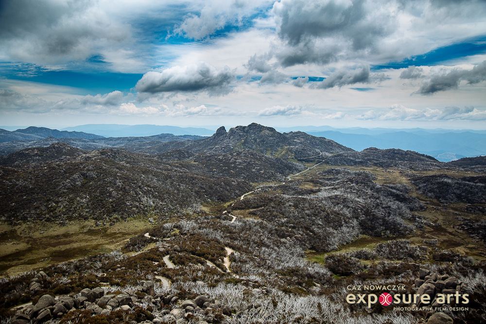 Image: View from The Horn to The Cathedral and the Hump in Mount Buffalo National Park by Caz Nowacz...