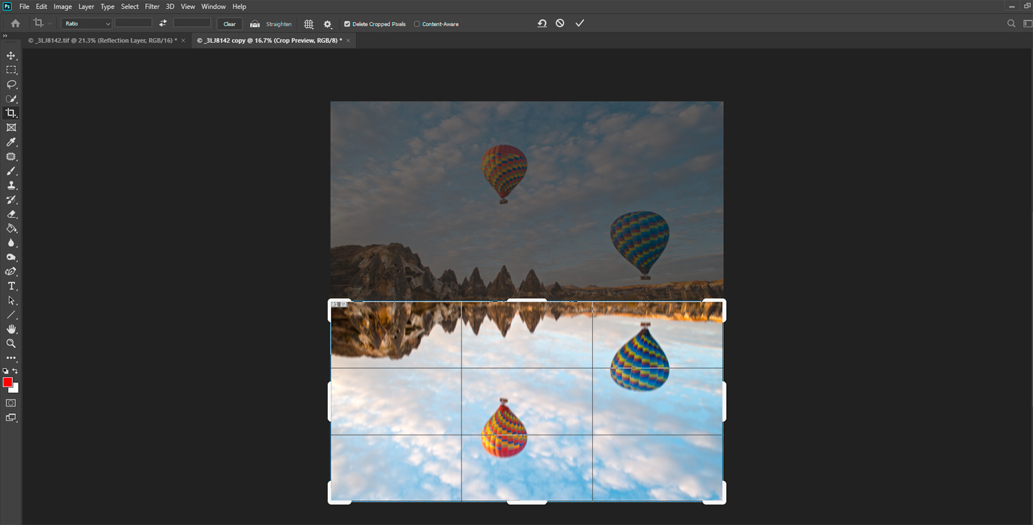 Reflections in Photoshop