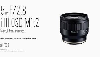 News: Tamron Announces E-Mount Prime Lenses for a Great Price