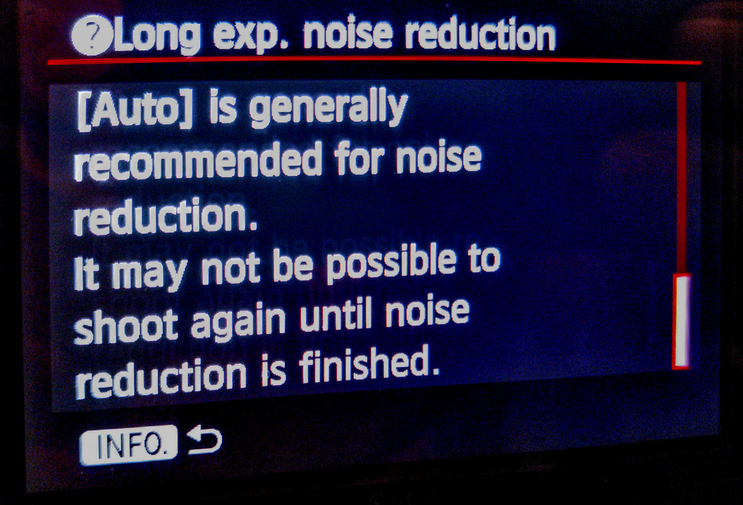 Image: Auto Noise Reduction works by taking a second black frame and combining it with your exposure...