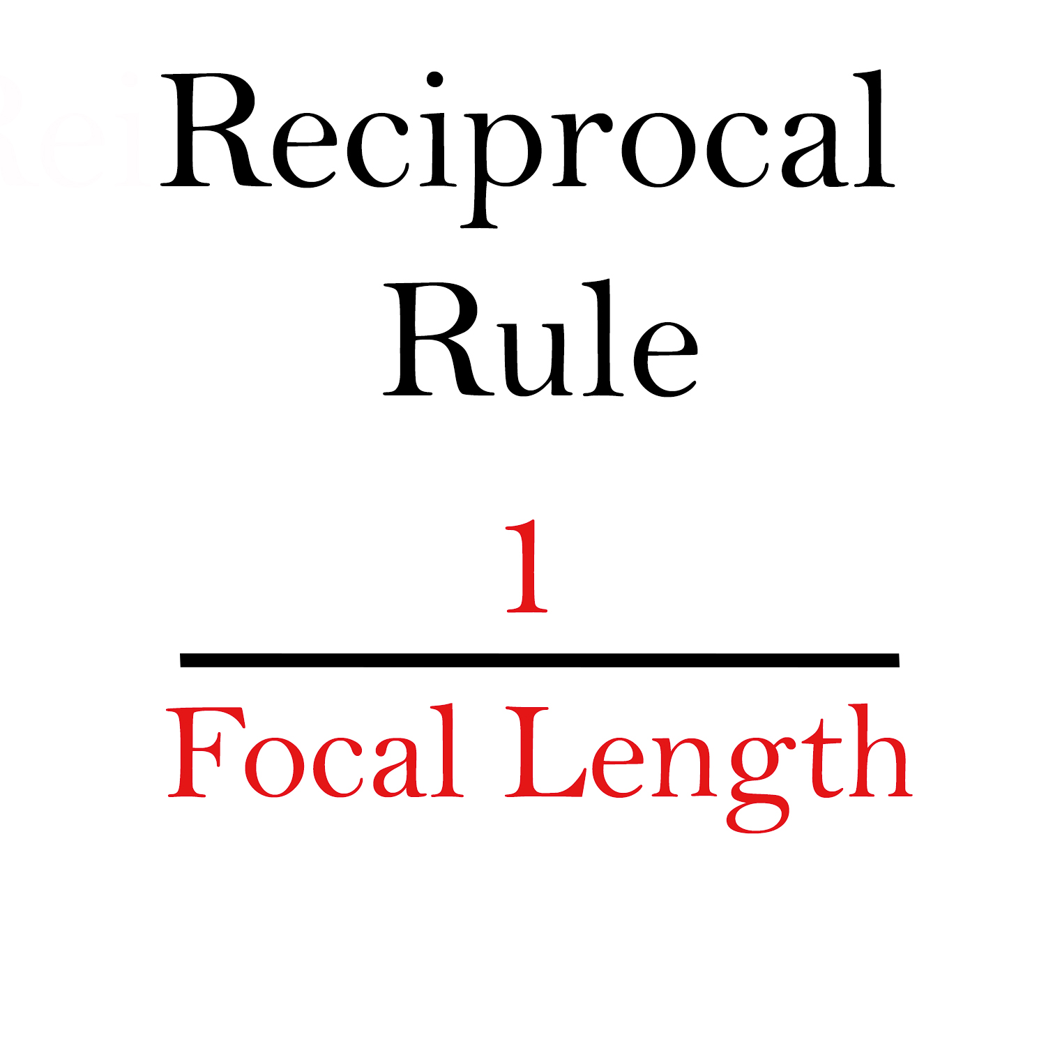Reciprocal Rule in photography formula