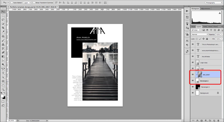 Create a portfolio template
