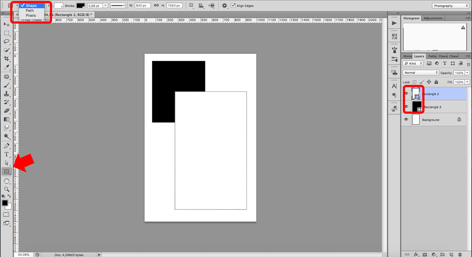 Create a Portfolio Template with Shapes