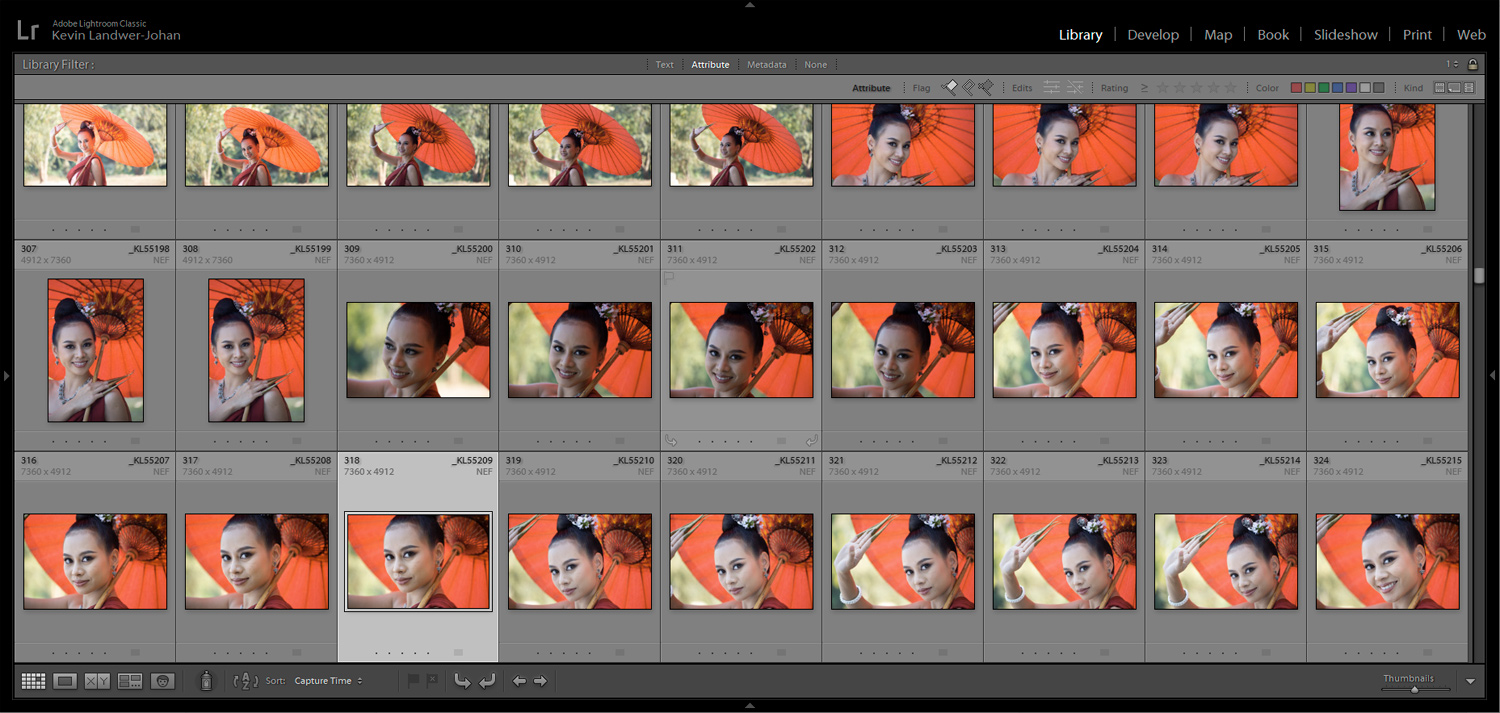 Lightroom Grid View - Viewing Images in Lightroom