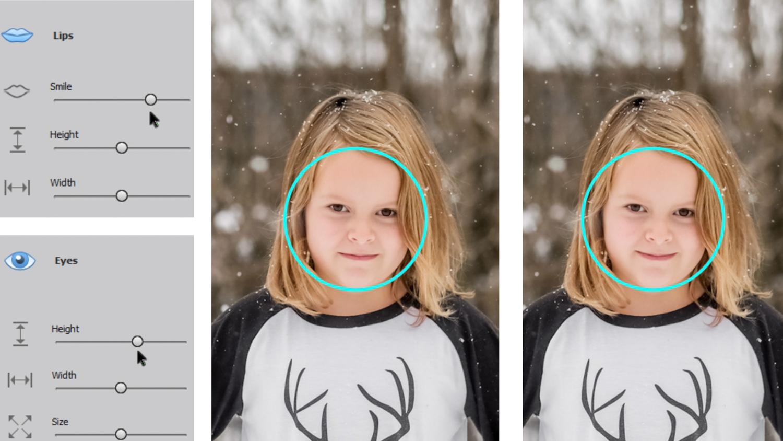 Photoshop Elements 2020 Smile Tool