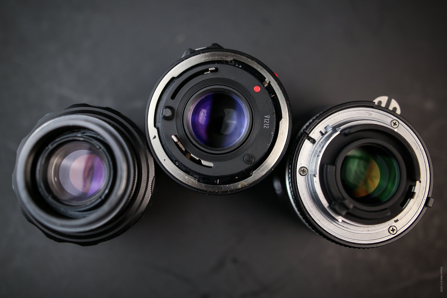 Different lens mounts of old lenses
