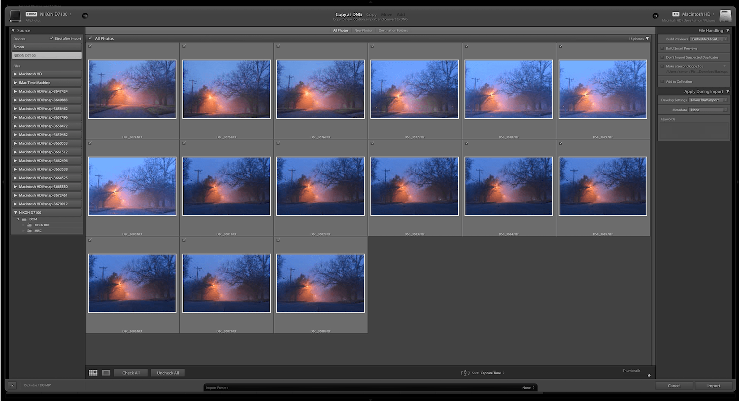 Lightroom keywords
