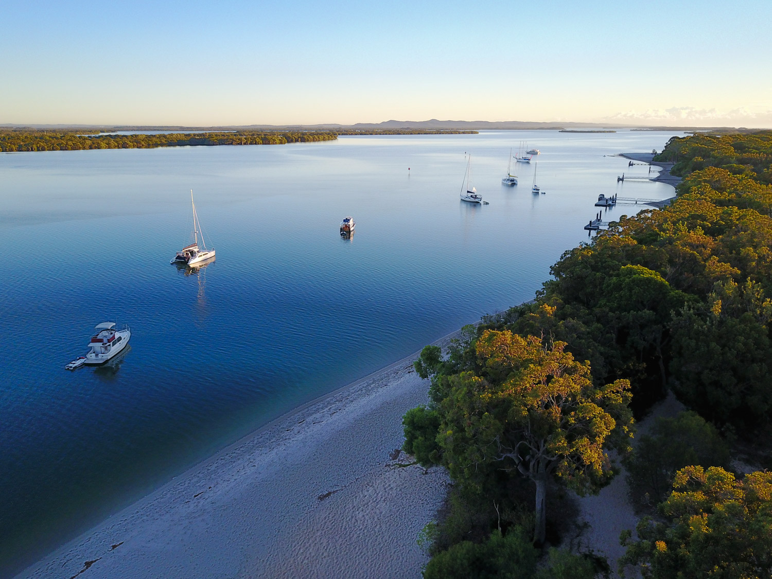 Image: Early morning view of South Stradbroke Island, Queensland. DJI Mavic.