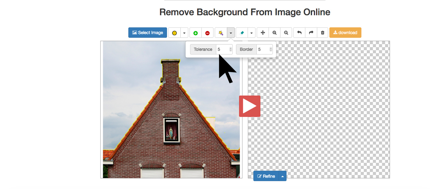 remove a background with edit photos for free