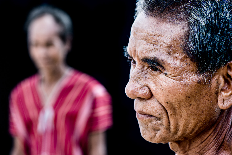 Portrait of a Karen man in northern Thailand