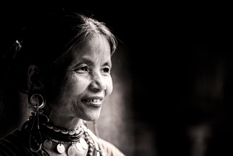 Portrait of a Kayaw woman