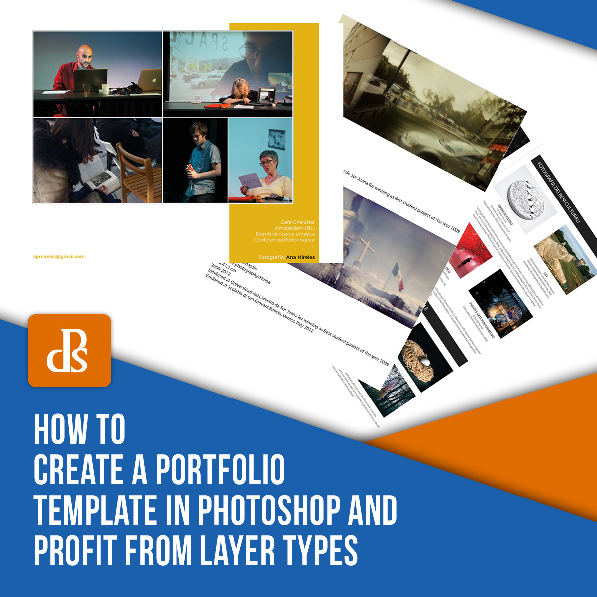 How to Create a Portfolio Template in Photoshop and Profit from Layer Types