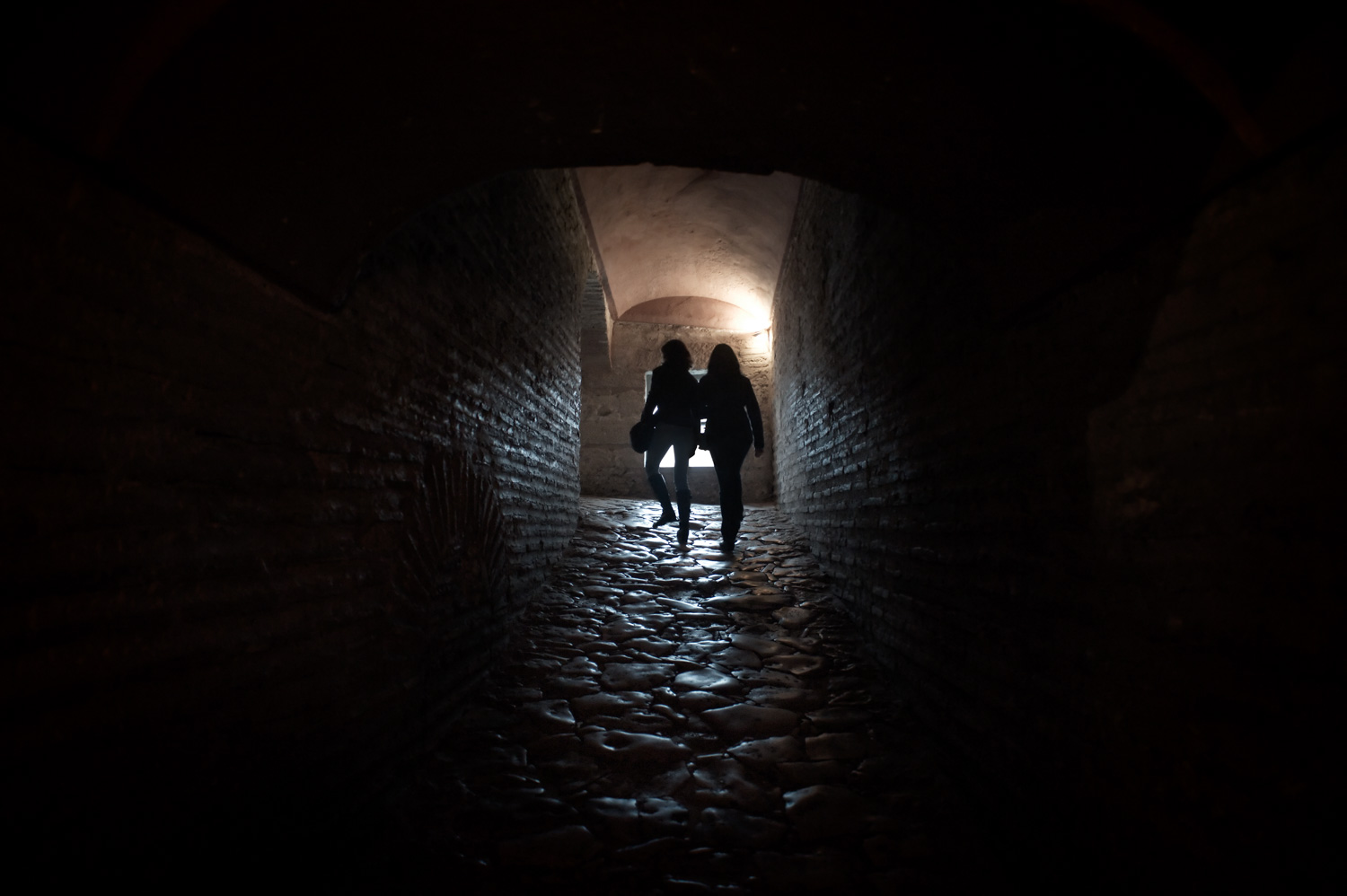 people in an old passage