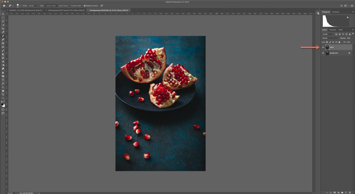 removing reflections in Photoshop