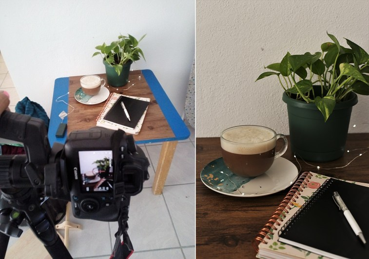 tabletop photography setup
