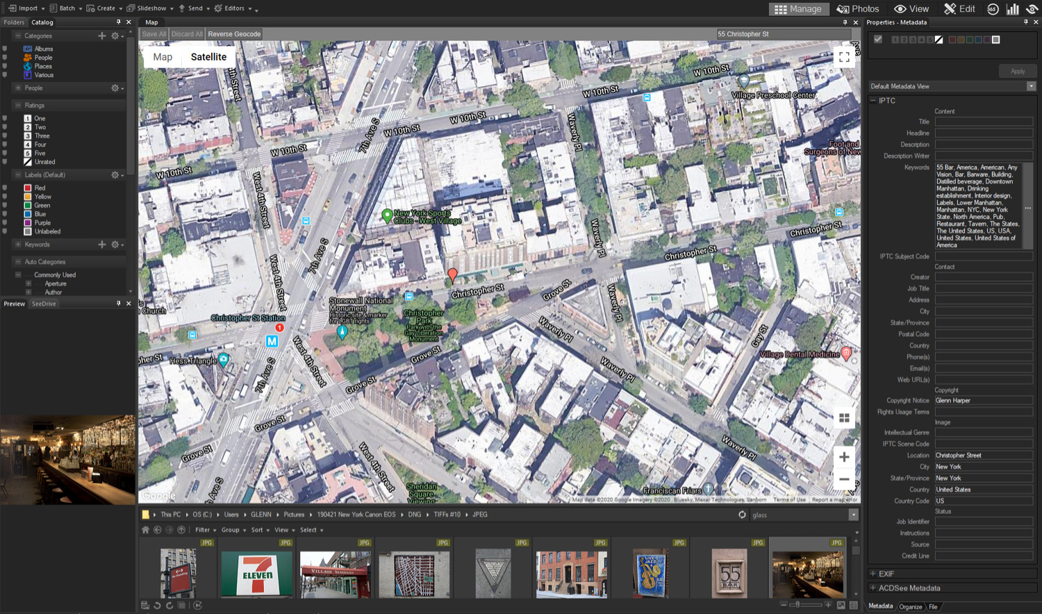 Map view in ACDSee Photo Studio Home 2020 - adding geodata