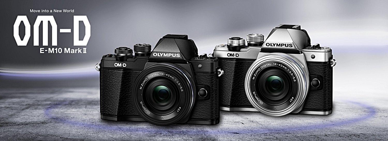 The Olympus OM-D E-M10 Mark II.