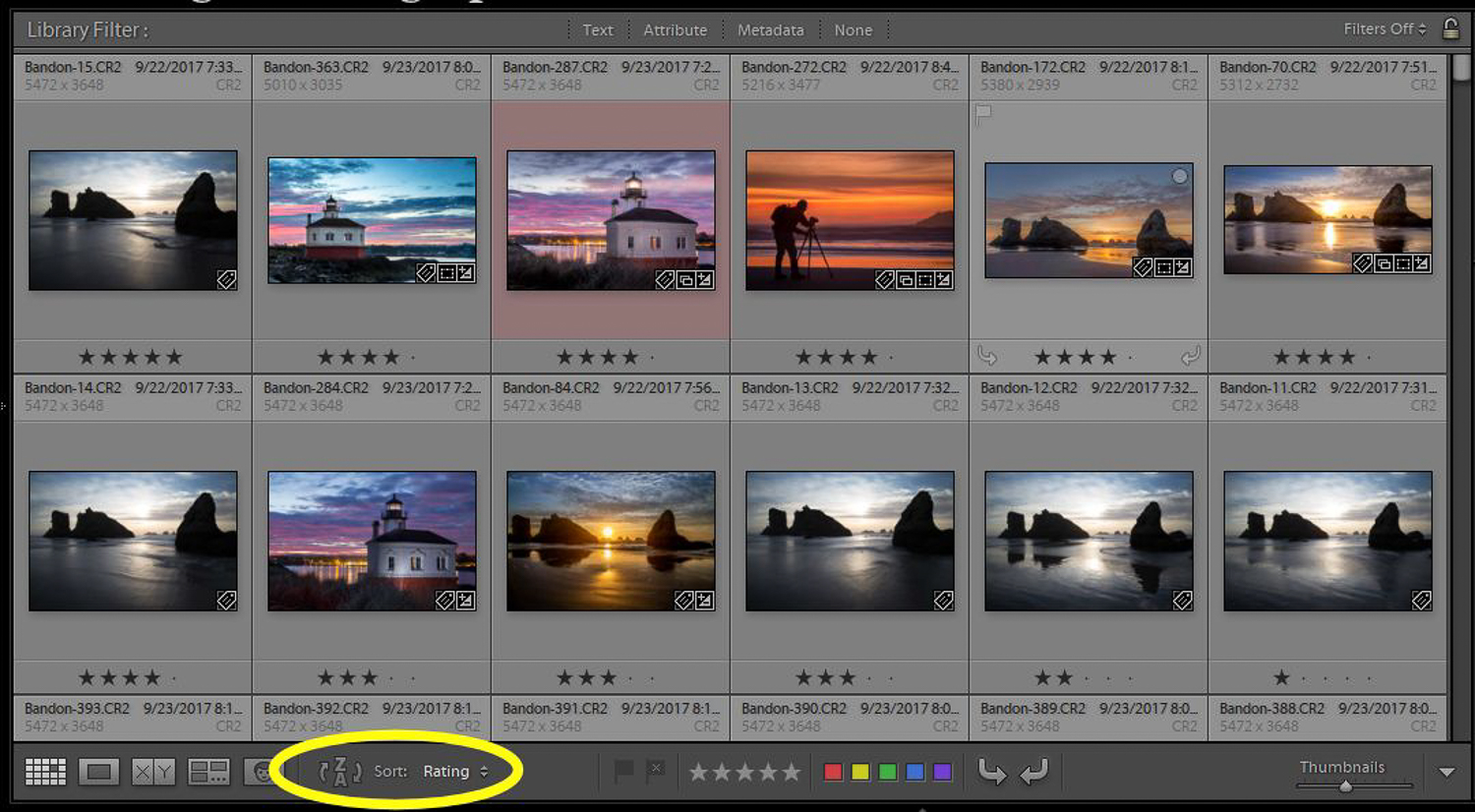 Finding photos with Lightroom