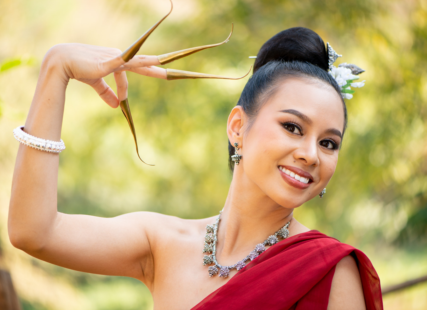Young Thai woman traditional dancer
