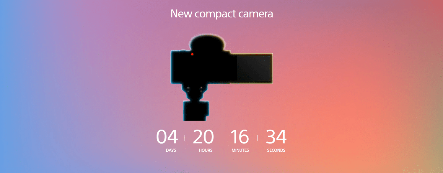 New compact camera announcement teaser