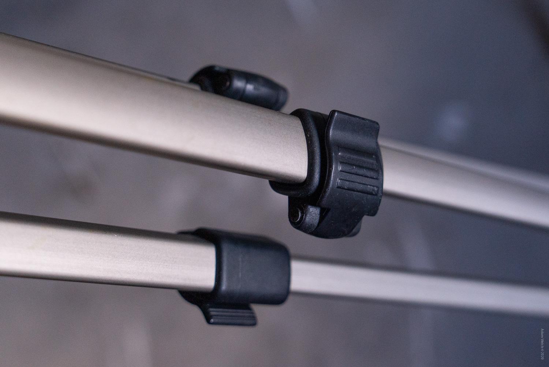 Flip locks on camera support system.