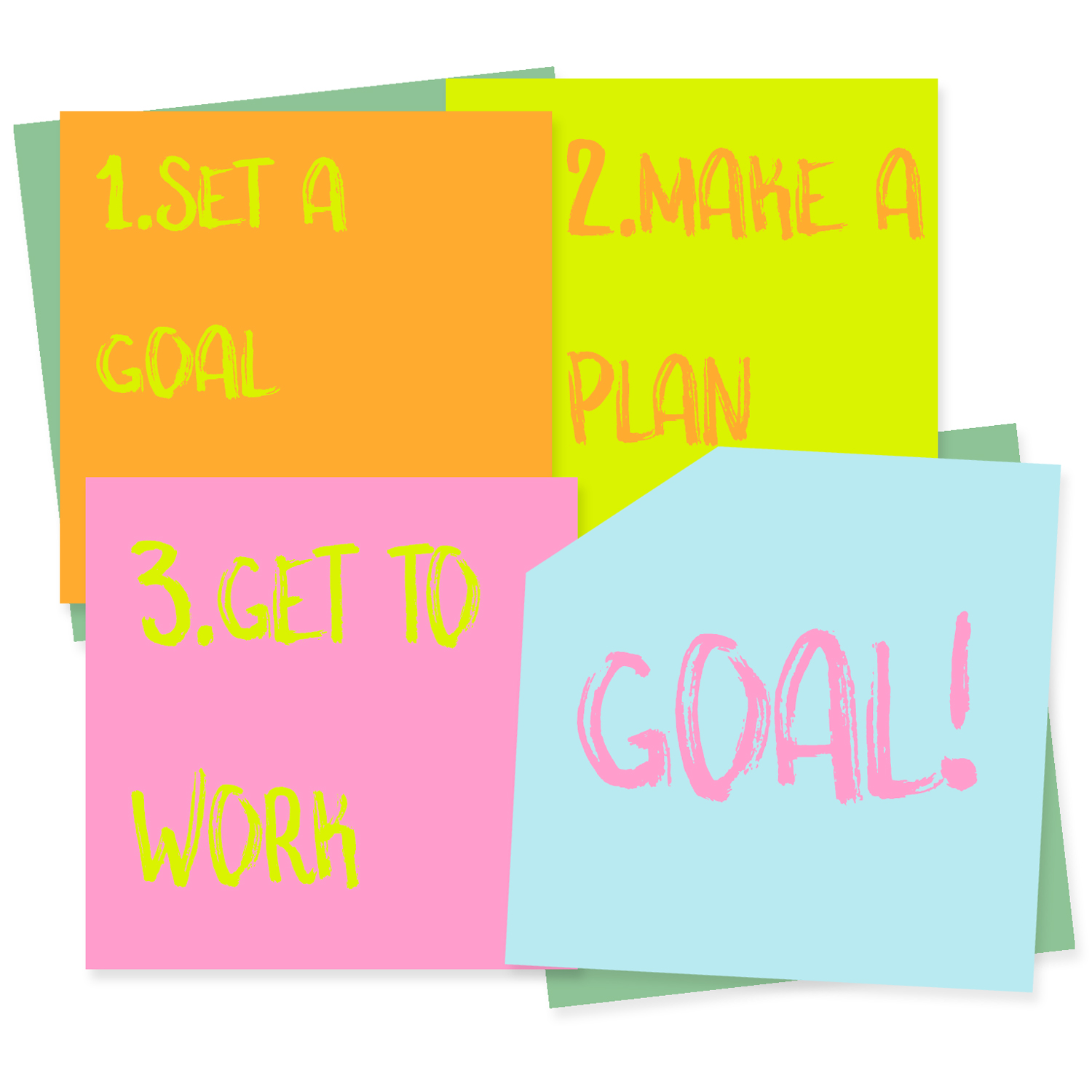 creativity goals post-it notes