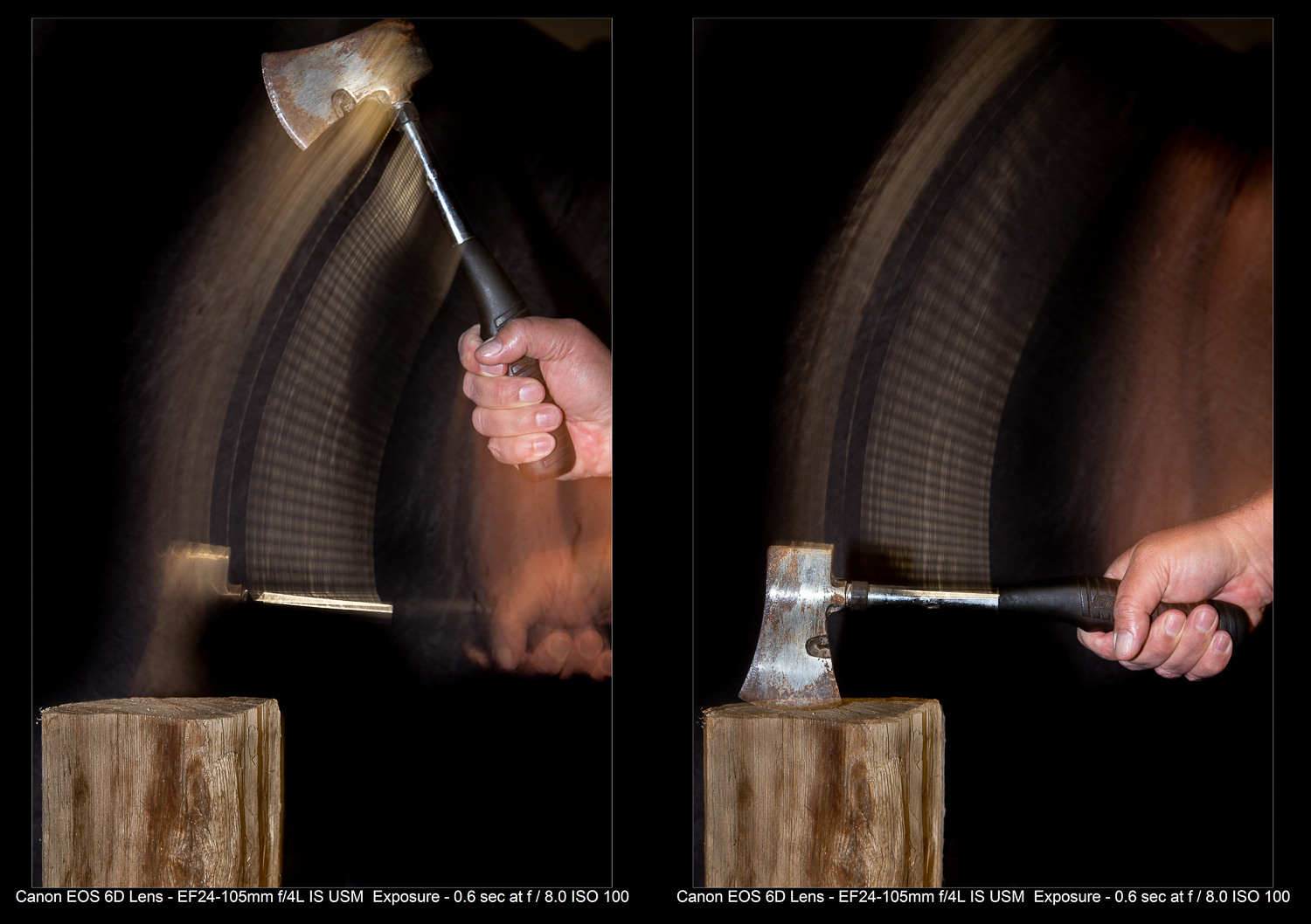 Flash action photos - First vs second curtain sync flash.