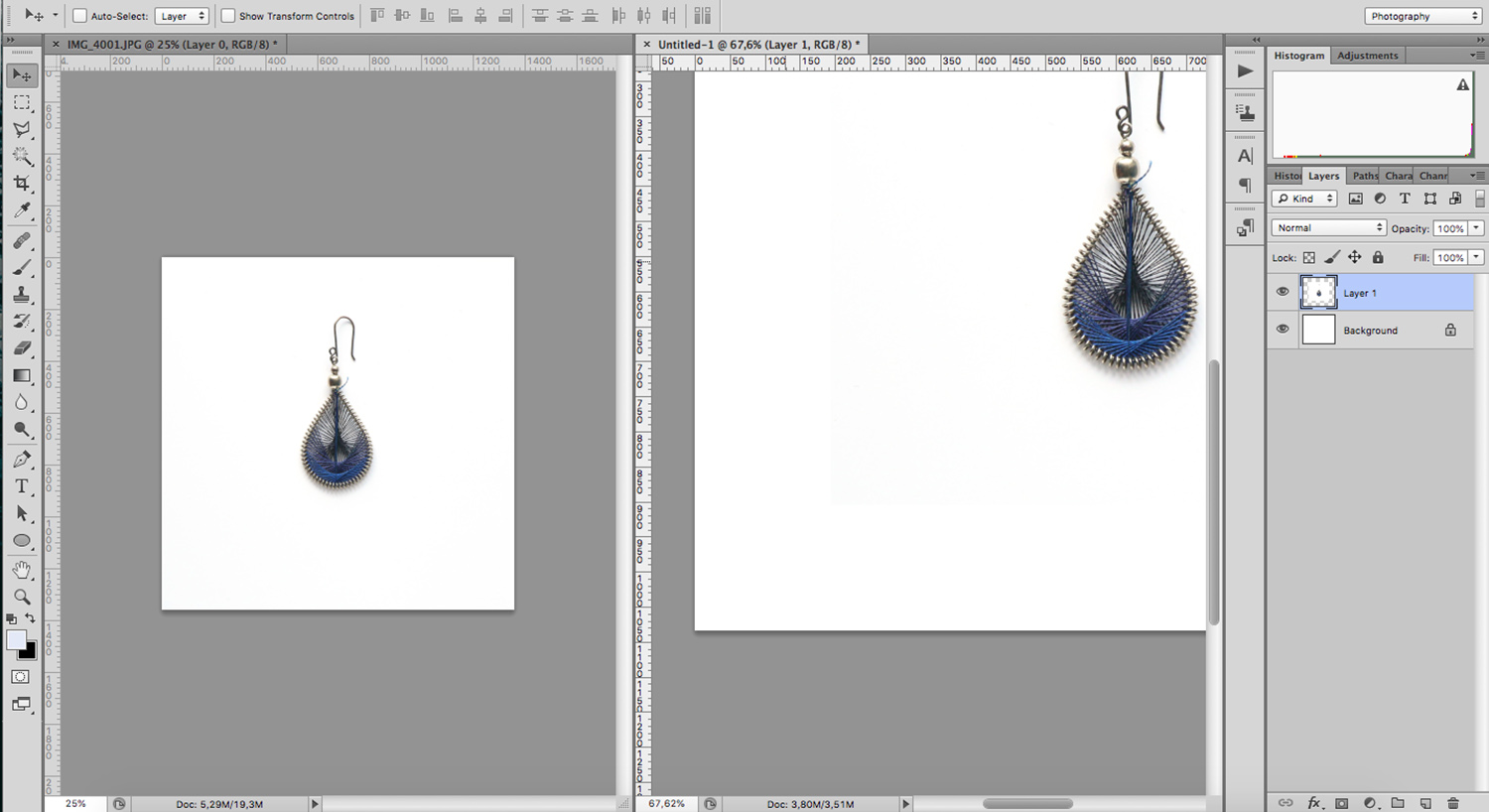 Photoshop tools to edit a white background