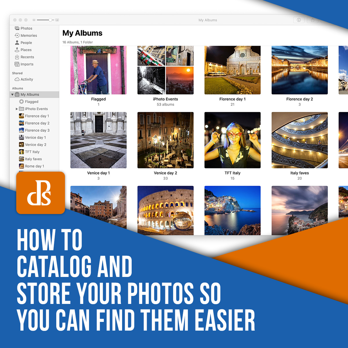 catalog and store your photos