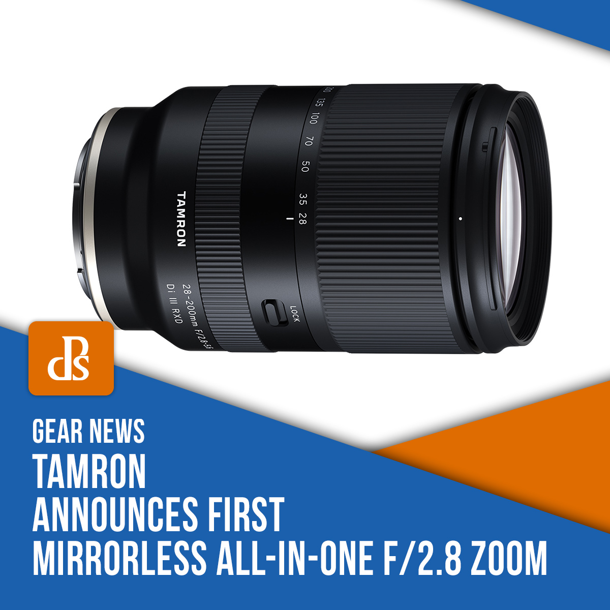 Tamron f/2.8 zoom lens announced