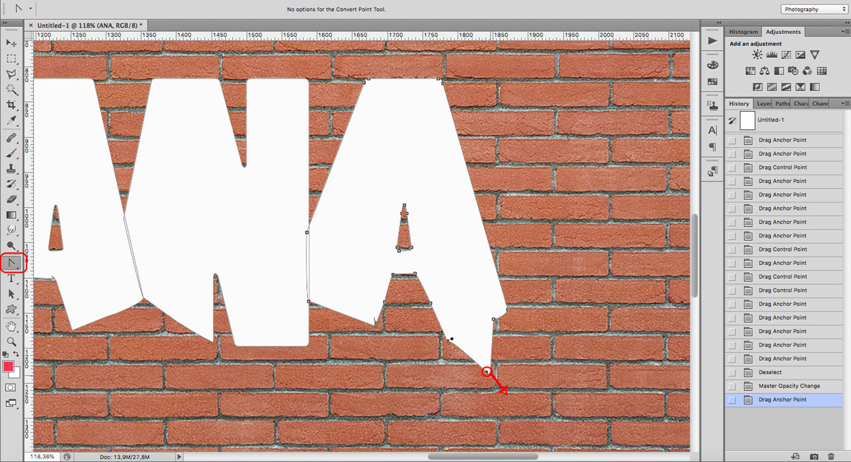 Modify fonts for a graffiti effect