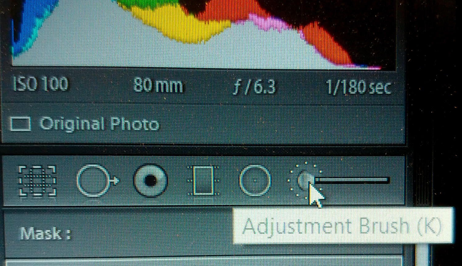 Local adjustment tools in Lightroom