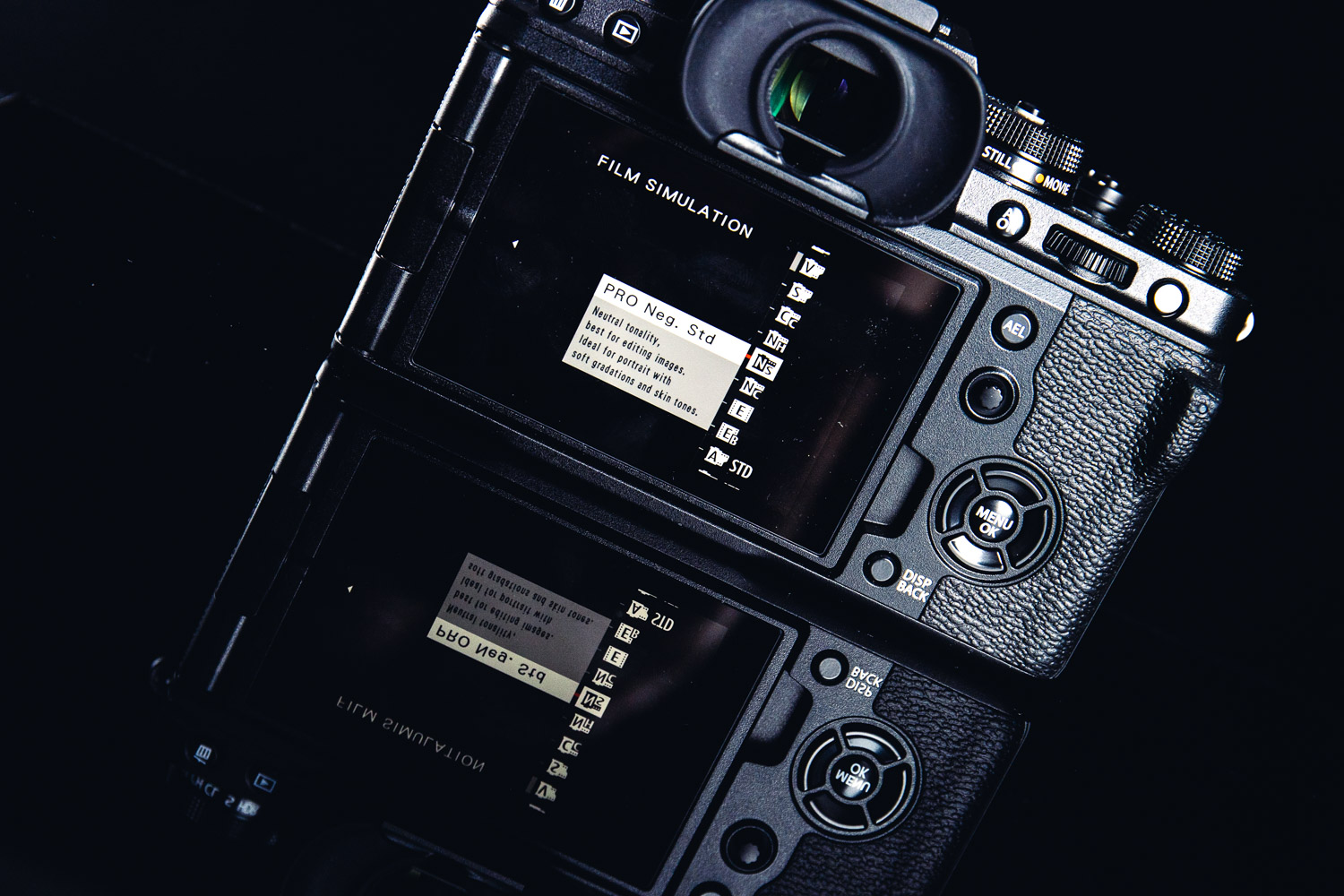 The X-T4 includes useful film simulation modes