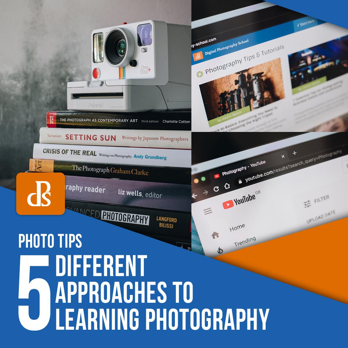 diferentes abordagens para aprender fotografia