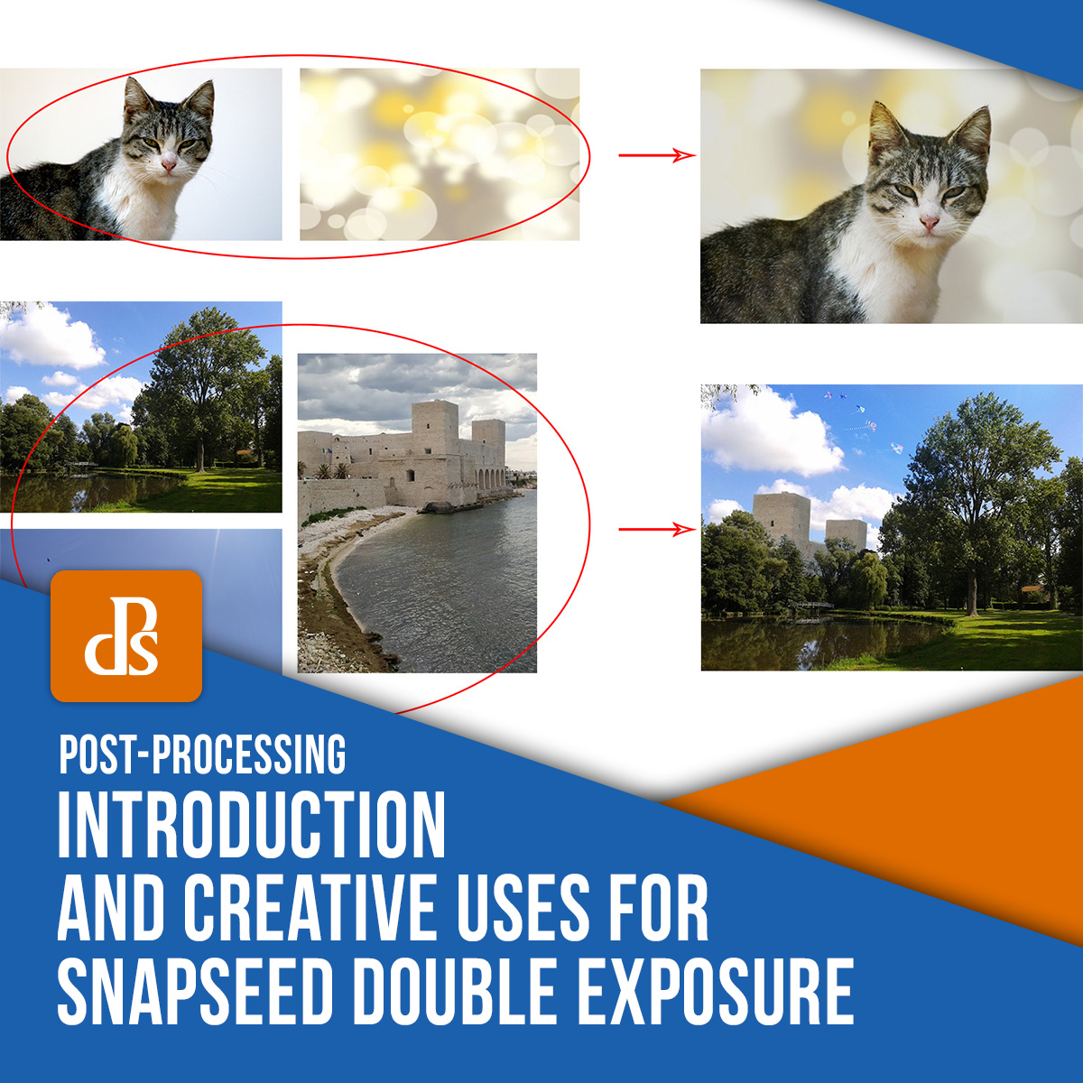 Snapseed double exposure feature uses and tips