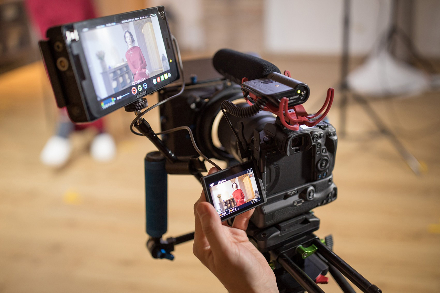 The Canon R5 being used for film making