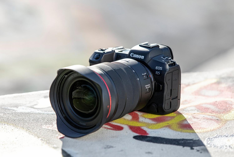 The Canon EOS R5 camera