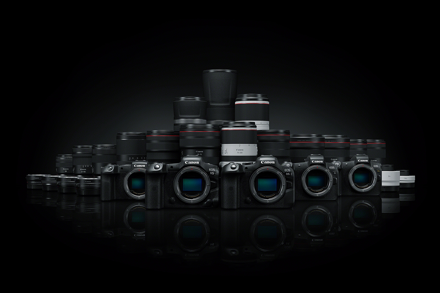 Canon EOSR range from the Canon launch in July