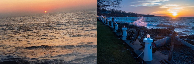 Marie Costanza antes e depois do pôr do sol