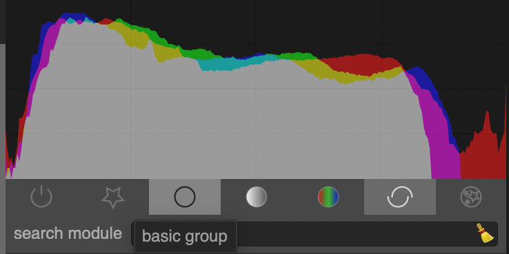 histogram in Darktable