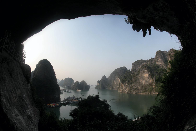 técnicas simples de fotografia criativa moldura de entrada da caverna