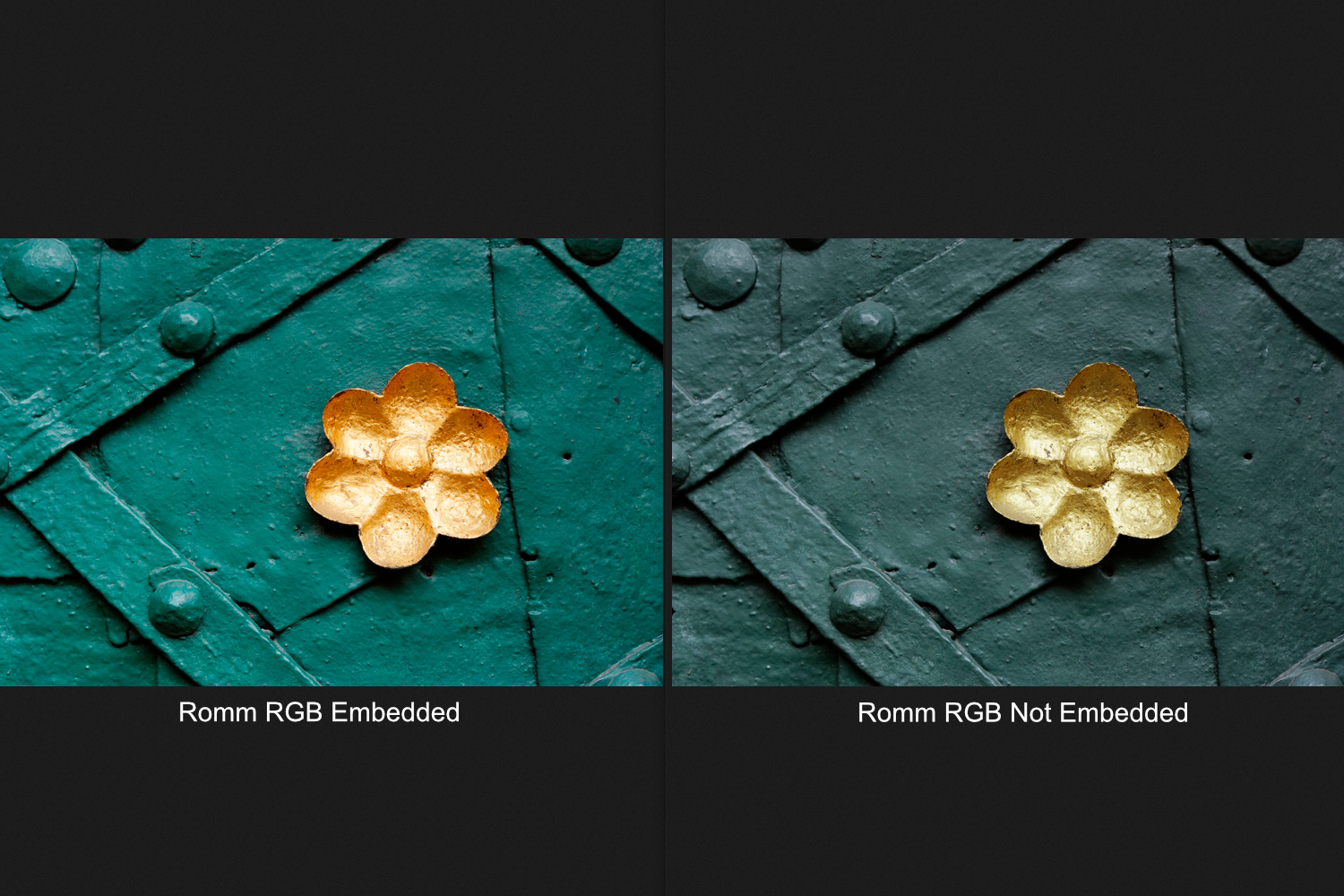 Embedding ICC profiles into images color management in Affinity Photo