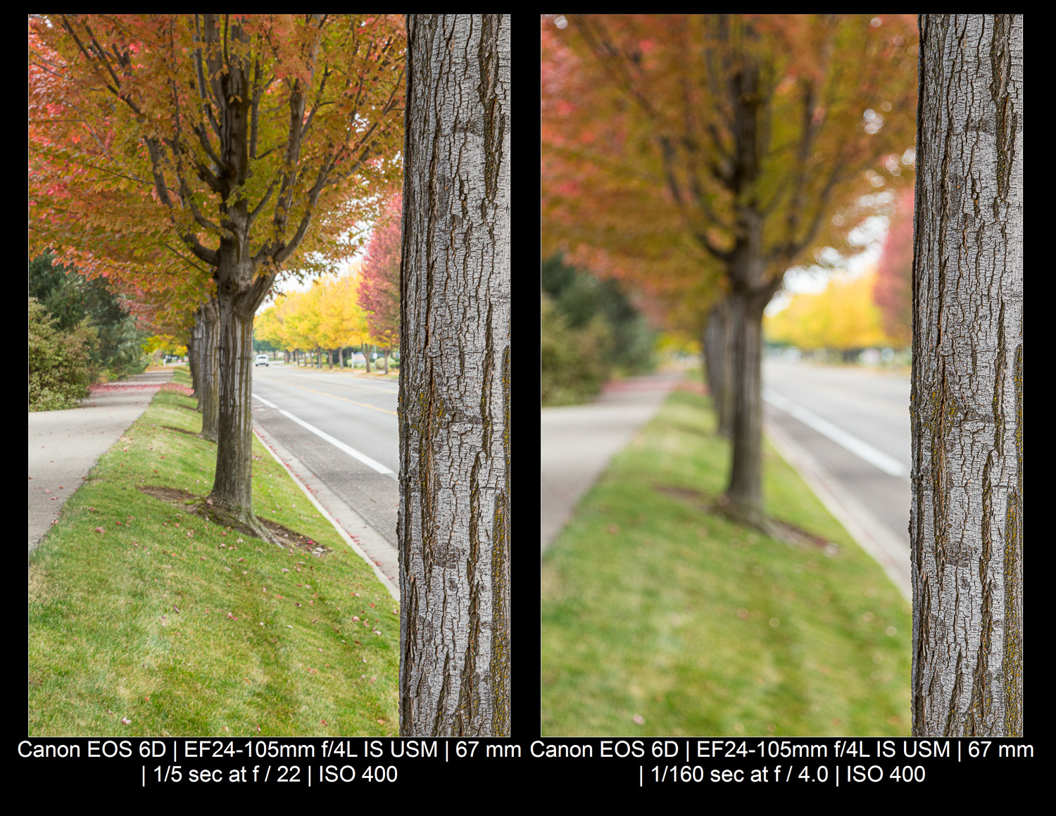 aperture/depth of field comparison