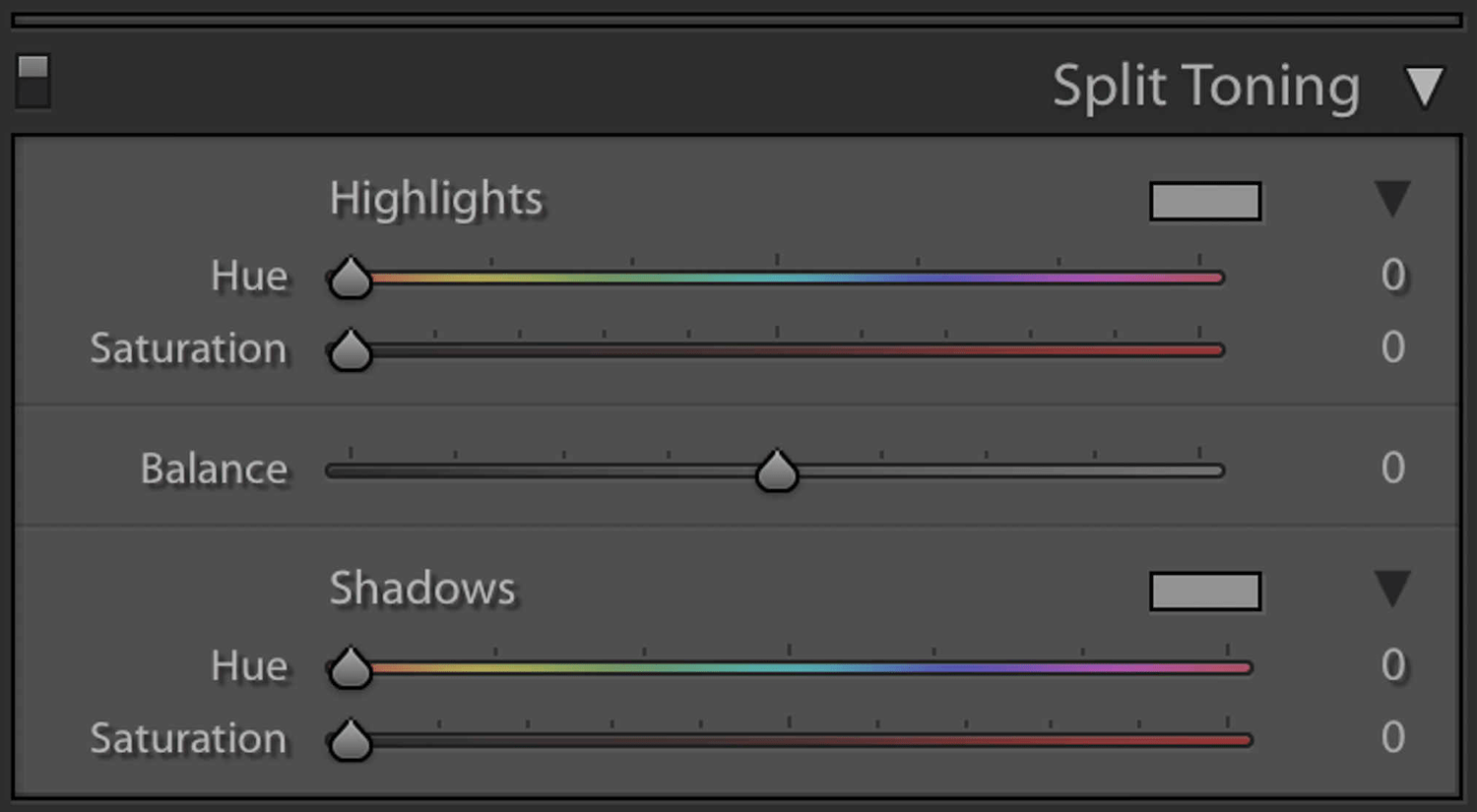 Lightroom color grading split toning