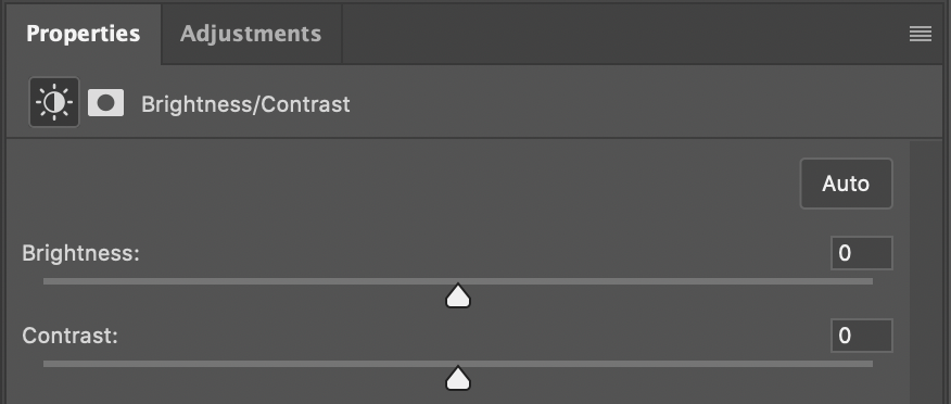 Brightness/Contrast editing parameters