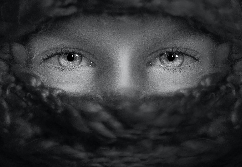 retrato de olhos deslumbrantes
